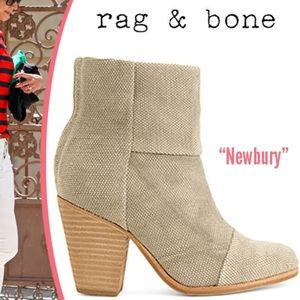 Rag and Bone Canvas Newbury Booties